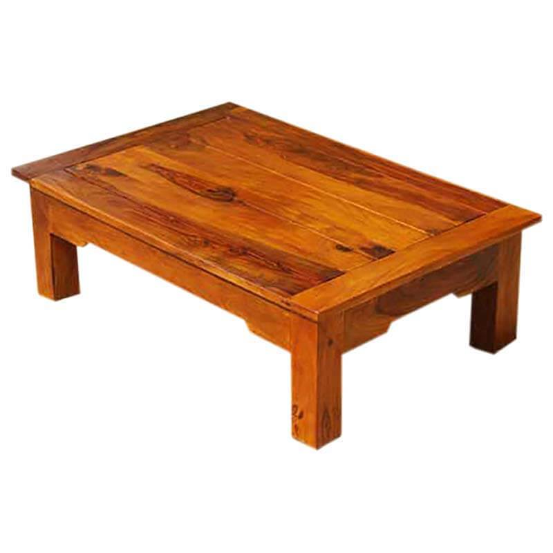low height wood mission cocktail coffee table new