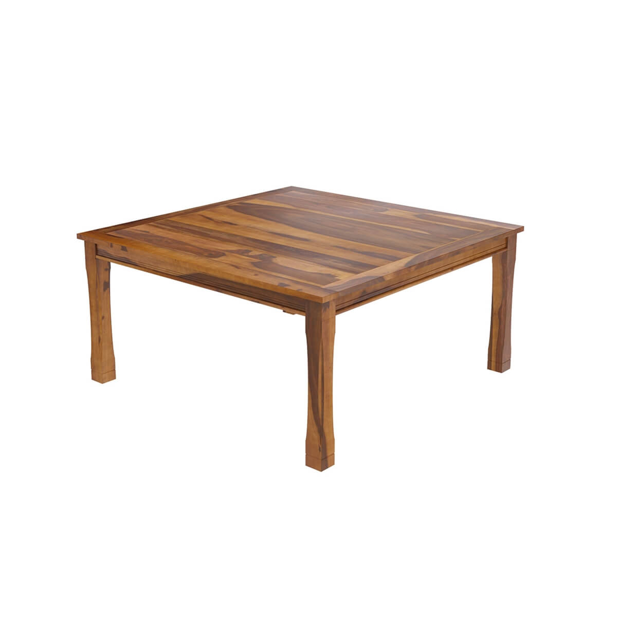 Dallas ranch transitional square wood dining room table for Square dining room table