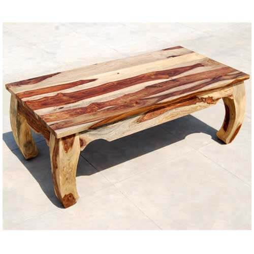 Large rustic unique wood cocktail coffee table for Unusual coffee tables