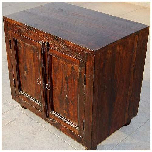 Kitchen Side Table: Espresso Wood Storage Shelf Kitchen Cabinet Side Table
