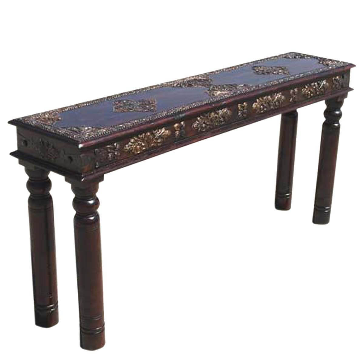 antique accent work hall entry way console sofa table. Black Bedroom Furniture Sets. Home Design Ideas