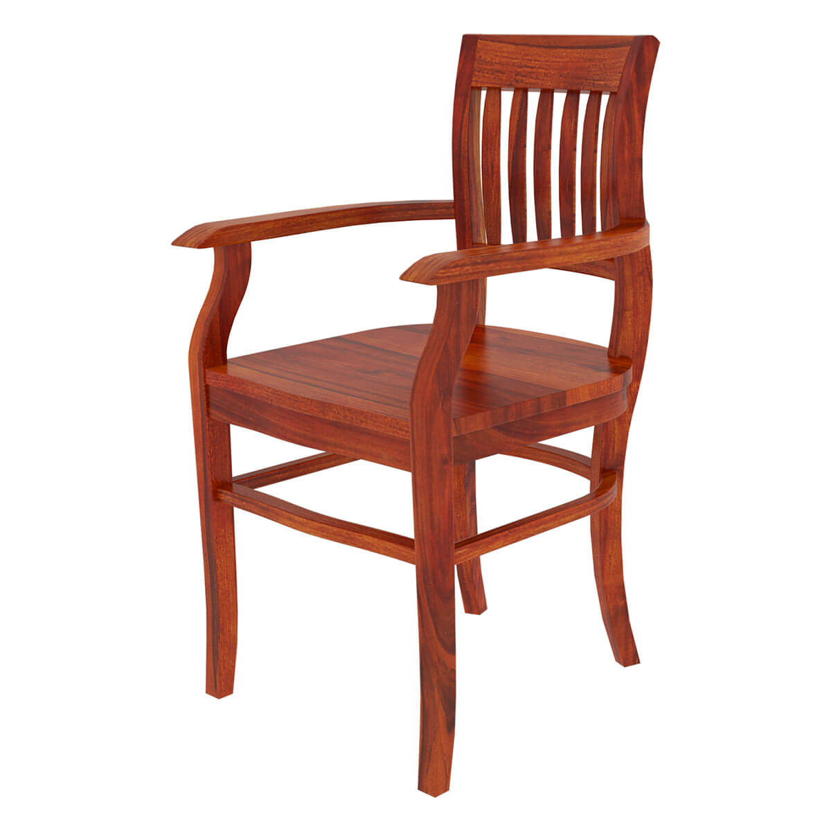 Solid wood arm dining chair furniture - Wooden dining room chairs ...