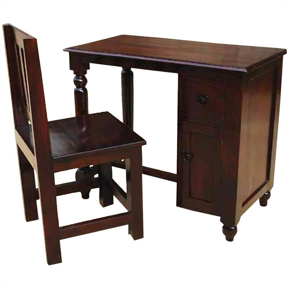 Solid Wood Student Writing Desk Chair Study Table