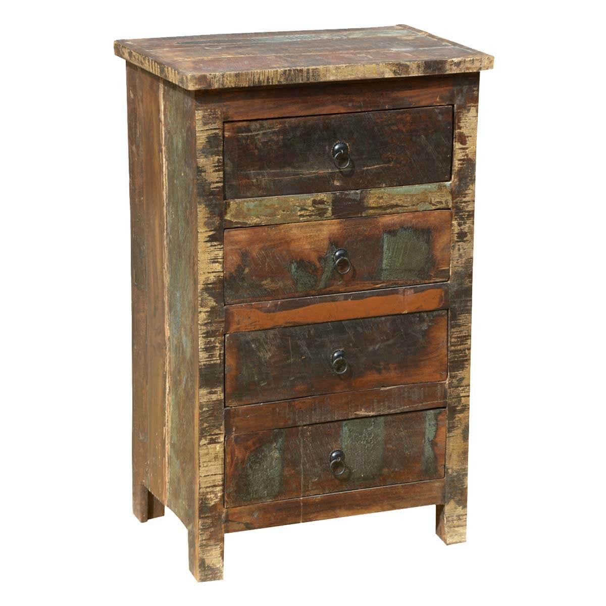 appalachian rustic distressed reclaimed wood 4 drawer