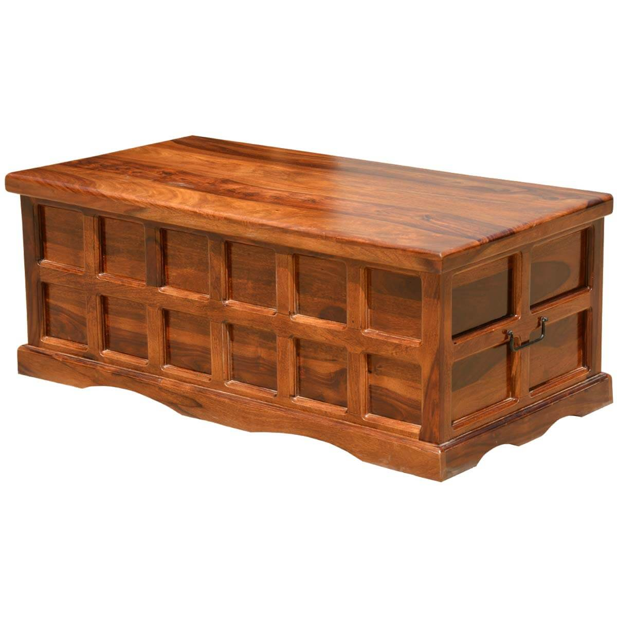 Solid wood handmade traditional coffee table storage box chest Coffee table chest with storage