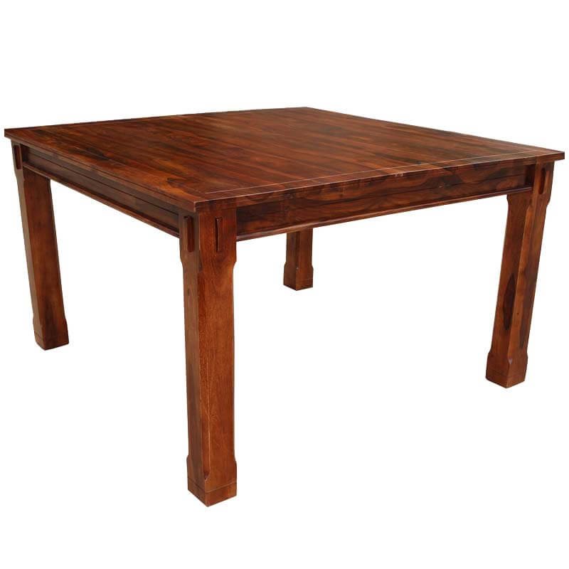 Square Dining Table Counter Height Solid Wood Rustic Furniture