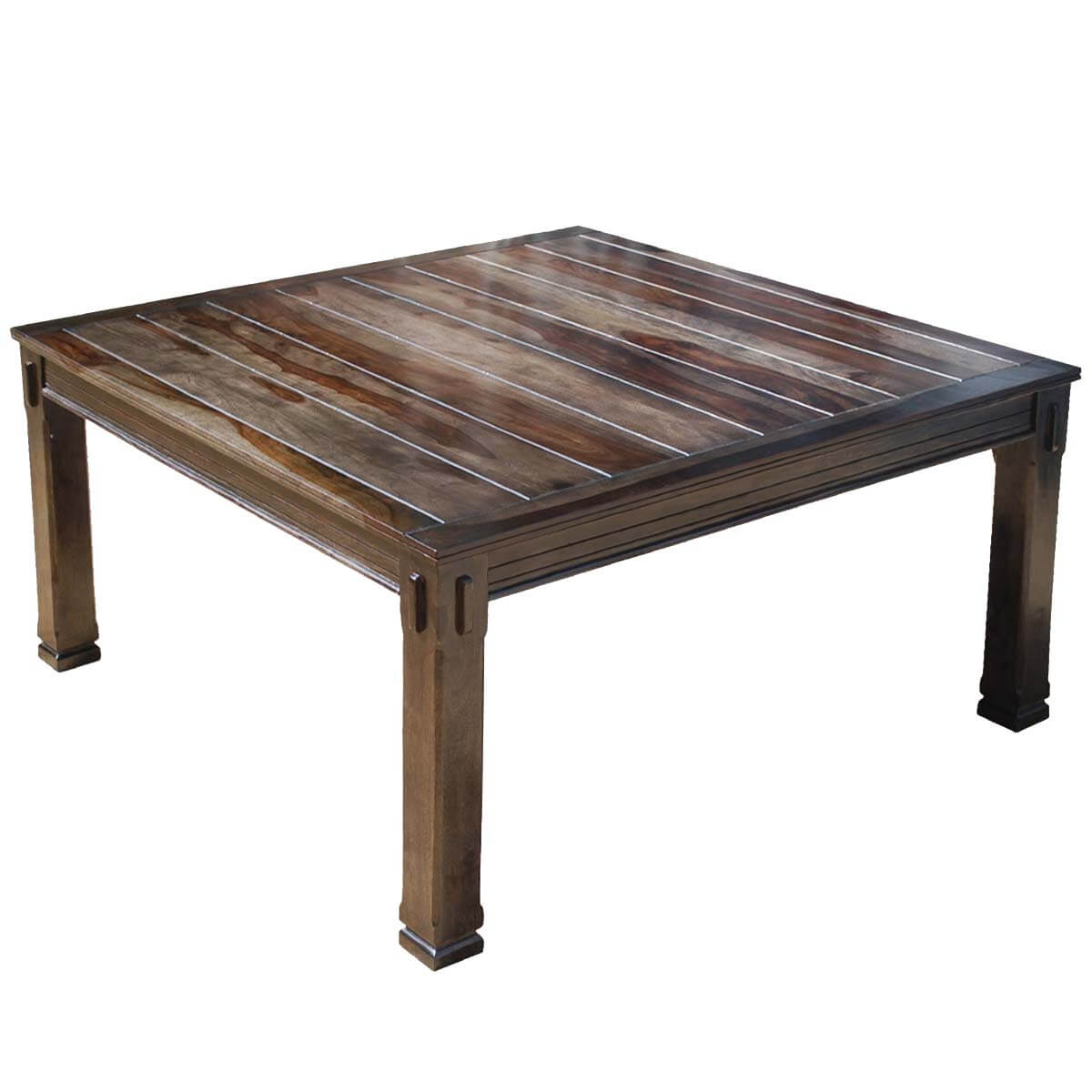 Santa fe transitional rustic solid wood square dining table - India dining table ...