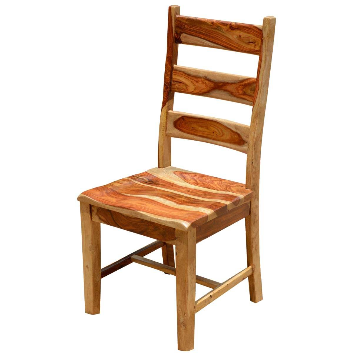 Dallas ranch solid wood school back dining chair - Wooden dining room chairs ...