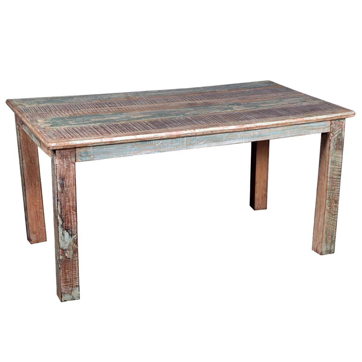 Rustic reclaimed wood distressed kitchen dining table Rustic wood dining table