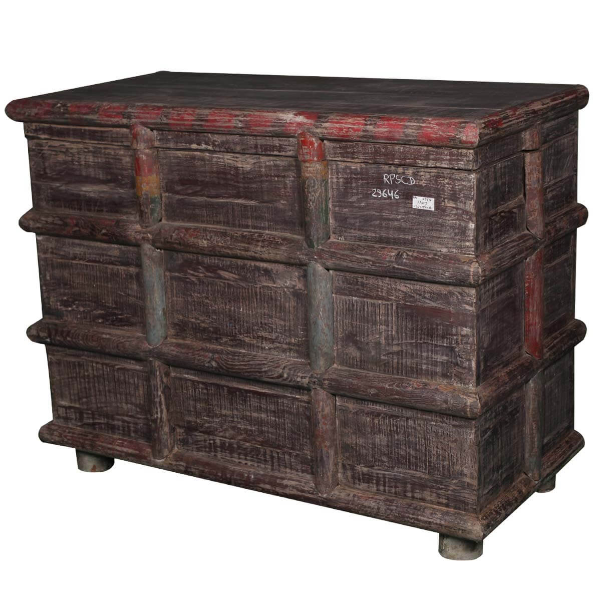 Beaufort Gothic Reclaimed Wood Log Inspired Storage Chest
