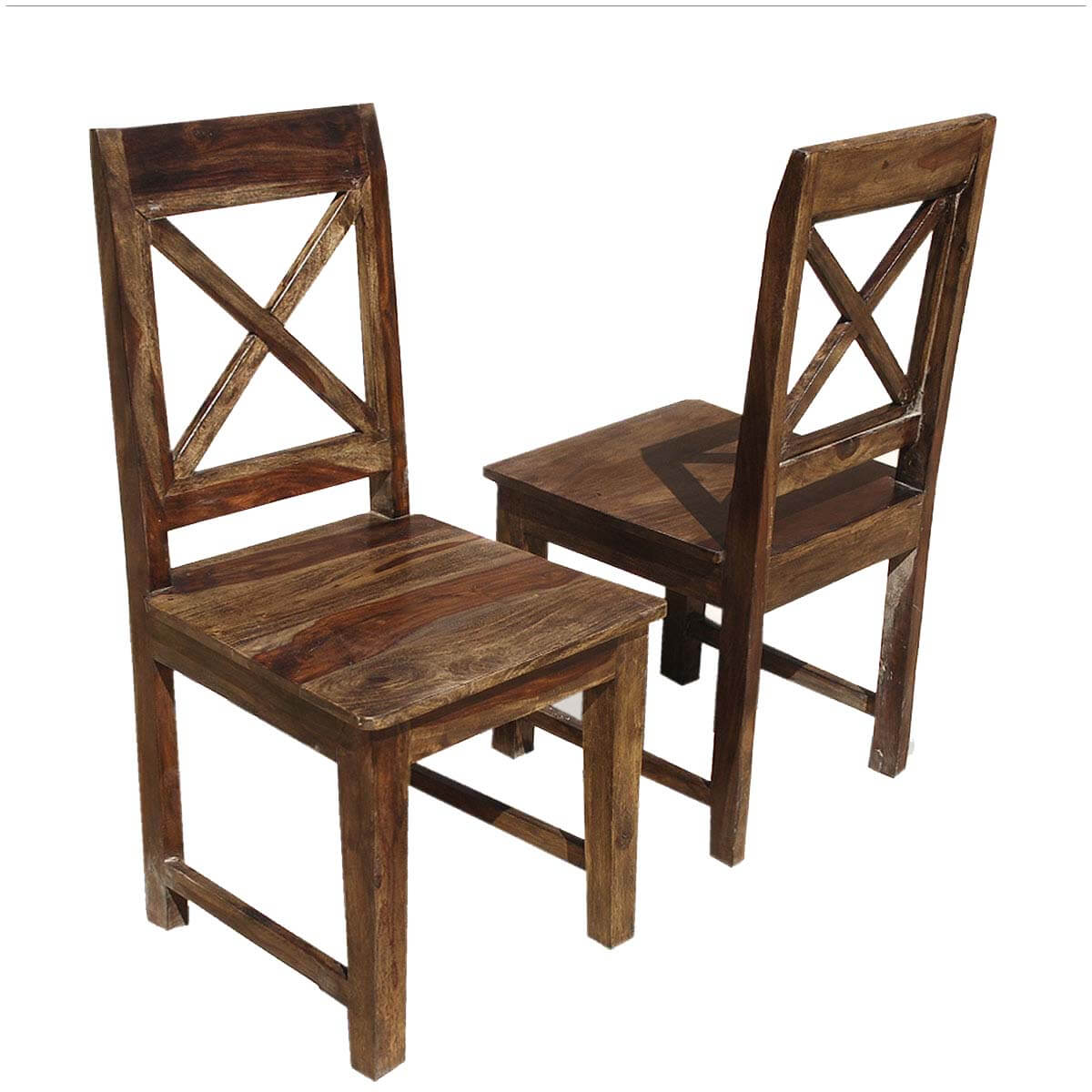 Dallas Ranch Solid Wood X Back Dining Chair Set Of 2
