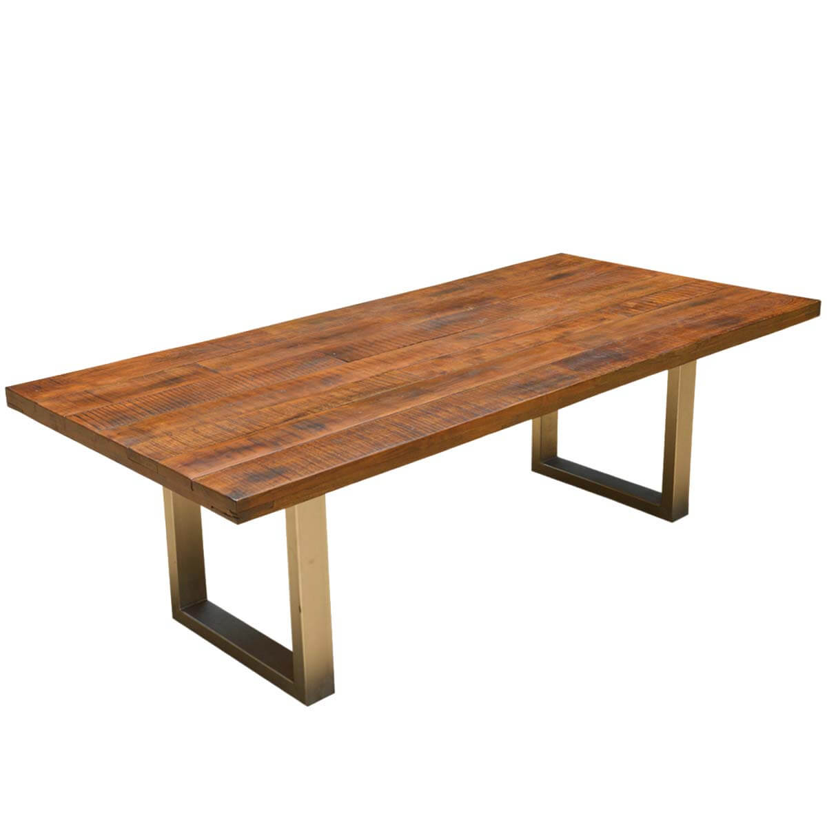 Acacia lyon large contemporary rustic solid acacia wood for Solid wood dining table