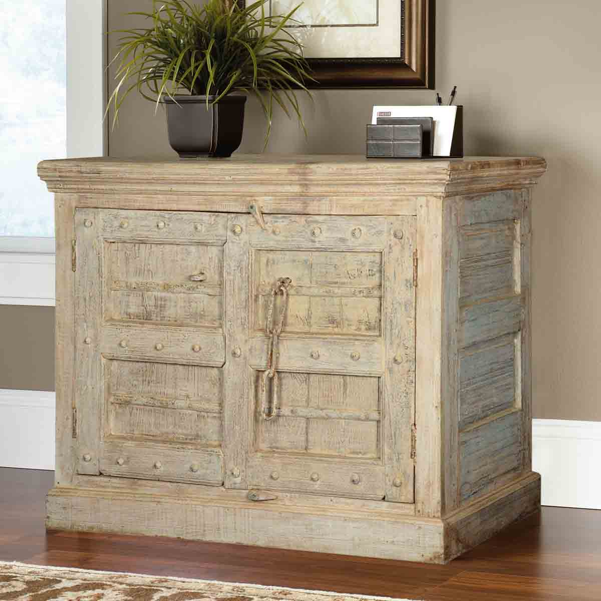 Maria winter reclaimed wood door buffet storage cabinet
