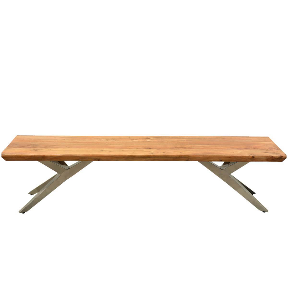 Rustic Wood Bench : Rustic Contemporary Acacia Wood Airloft Bench