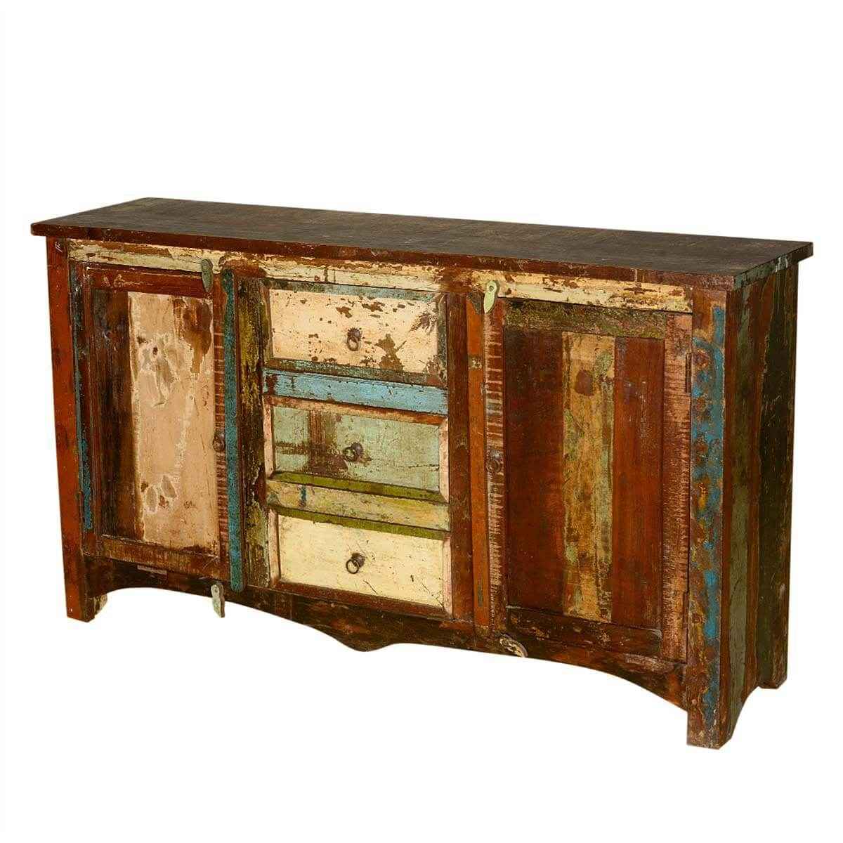 Distressed Wood Buffet ~ Grandpa s attic distressed reclaimed wood quot sideboard