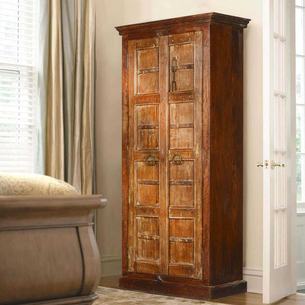 Very Impressive portraiture of Gothic Gates Reclaimed Wood 76 Tall Armoire Cabinet with #B07A1B color and 1200x1200 pixels