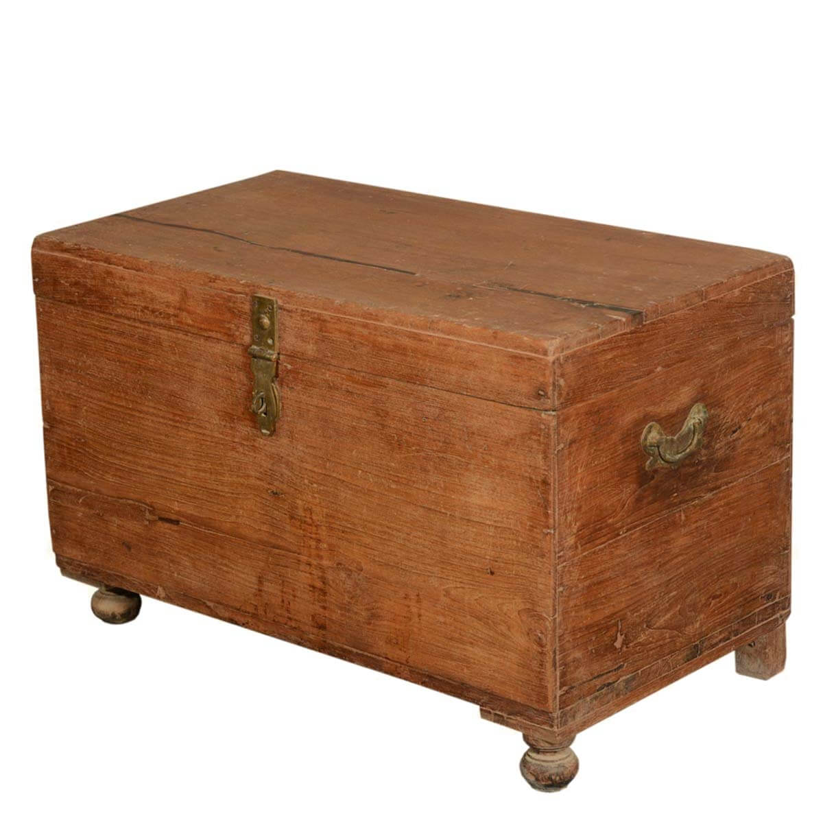 Grinnell primitive reclaimed wood storage coffee table chest