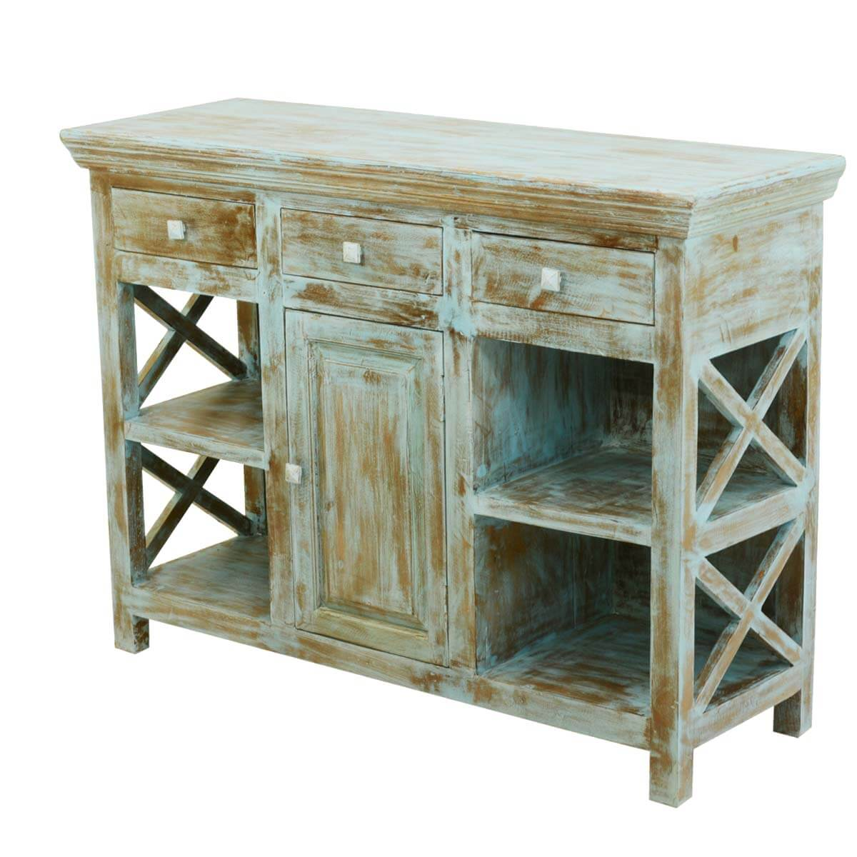 Superb img of Country Kitchen Mango Wood Open Shelves Buffet Sideboard with #7C6D47 color and 1200x1200 pixels