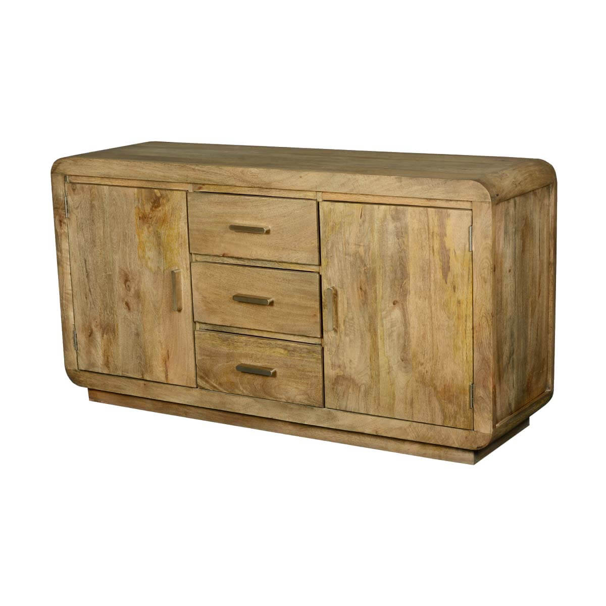 Rounded Corners Mango Wood Buffet Cabinet With Drawers. Full resolution‎  file, nominally Width 1200 Height 1200 pixels, file with #B28C19.