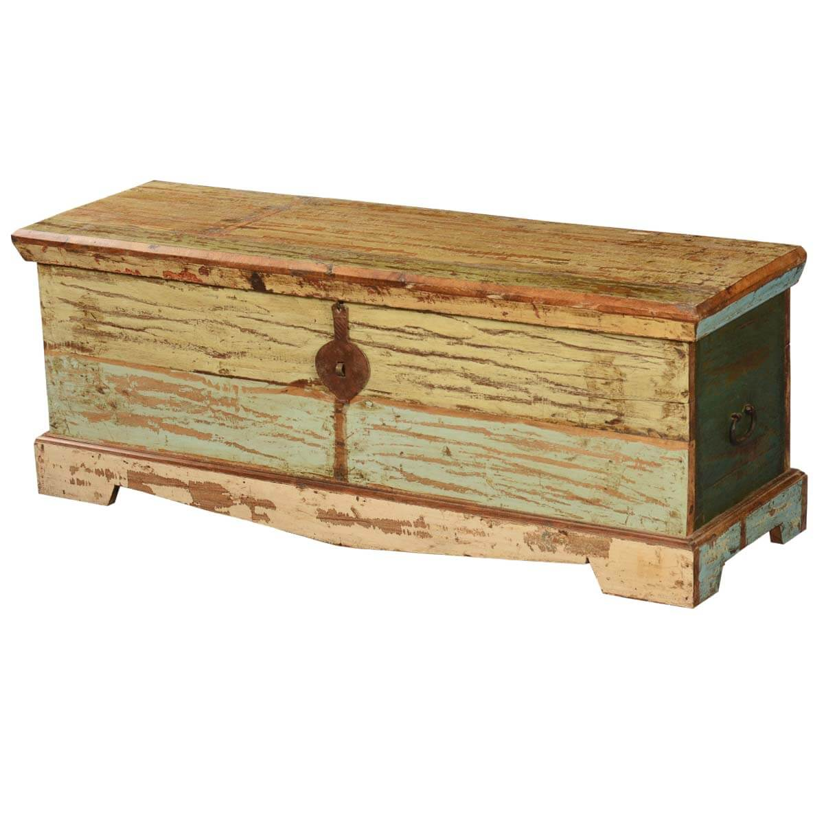 Attic treasure reclaimed wood coffee table chest storage trunk Coffee table chest with storage
