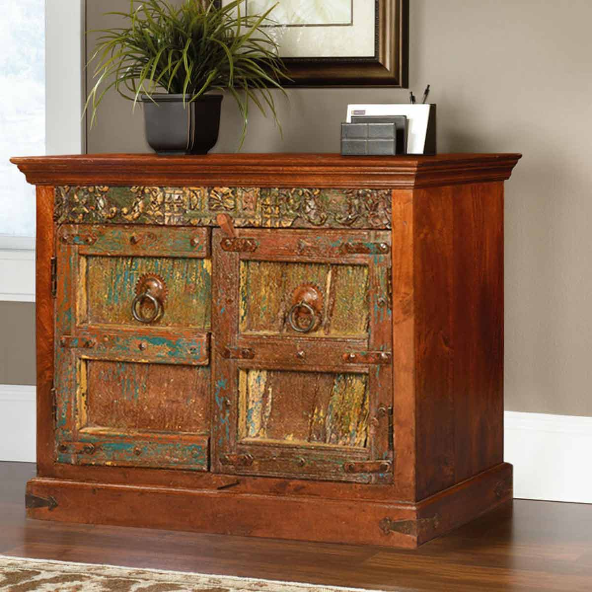 Gothic Classic Reclaimed & Mango Wood Buffet Storage Cabinet. Full resolution‎  file, nominally Width 1200 Height 1200 pixels, file with #B15016.