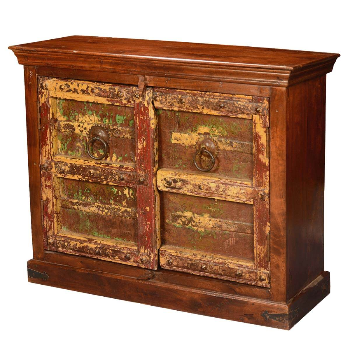 Gothic Times Reclaimed & Mango Wood Console Cabinet Buffet. Full resolution‎  file, nominally Width 1200 Height 1200 pixels, file with #BC770F.