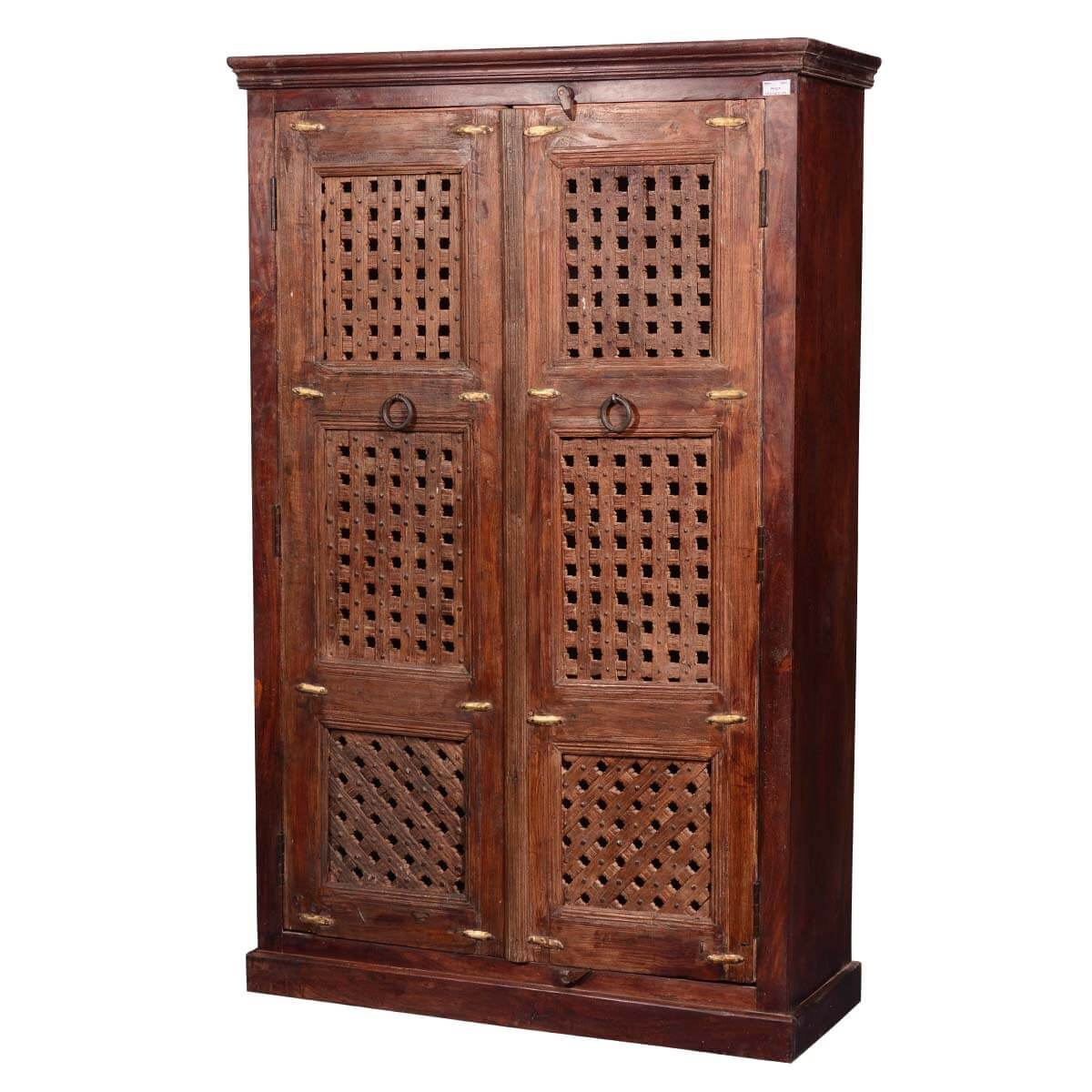 Wooden Armoire Wardrobe ~ Wooden screen door reclaimed wood quot wardrobe armoire
