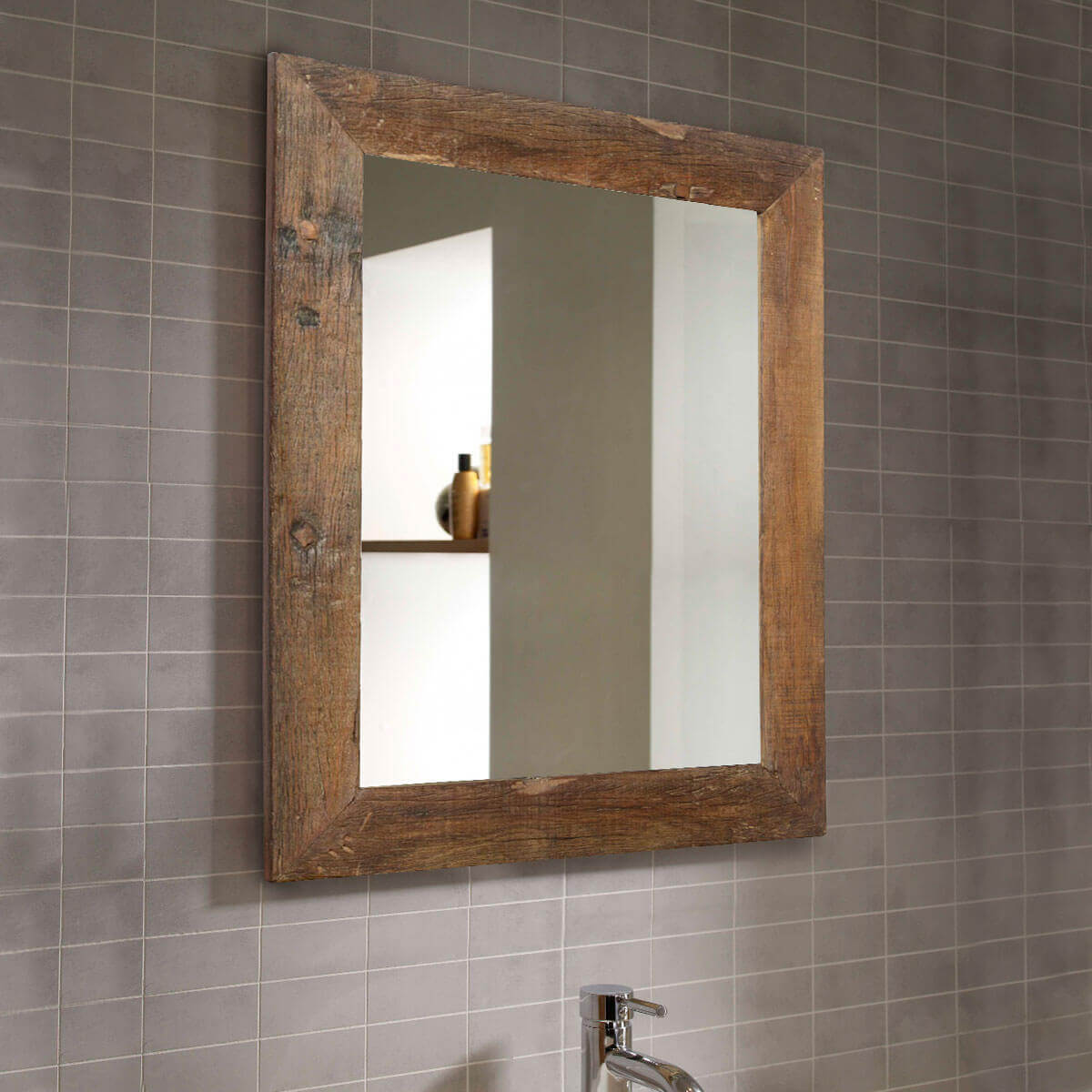 appalachian rustic large reclaimed wood wall mirror w
