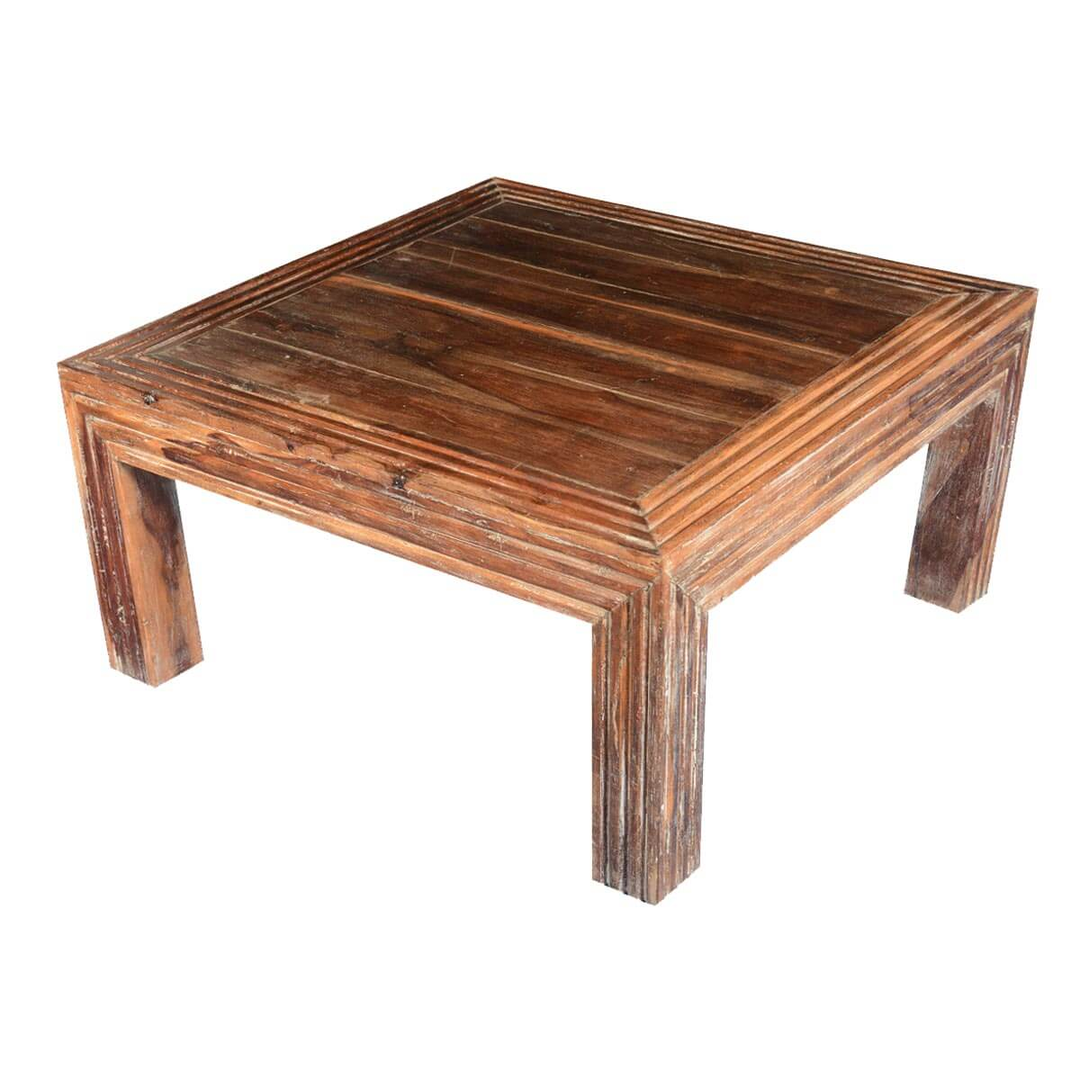 Contemporary square coffee table Wood square coffee tables