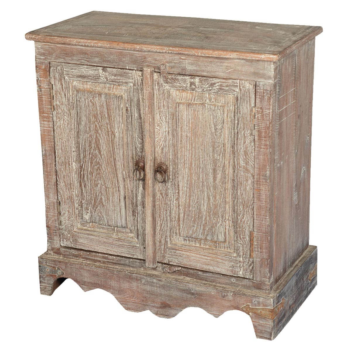 Reclaimed Wood Cabinets ~ Pennsylvania dutch rustic reclaimed wood door cabinet