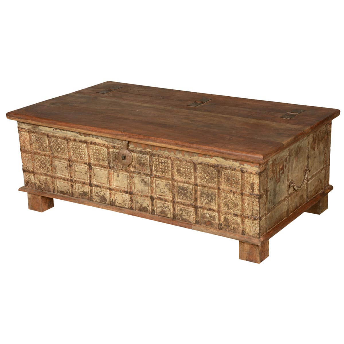 Gothic Reclaimed Wood Coffee Table Chest