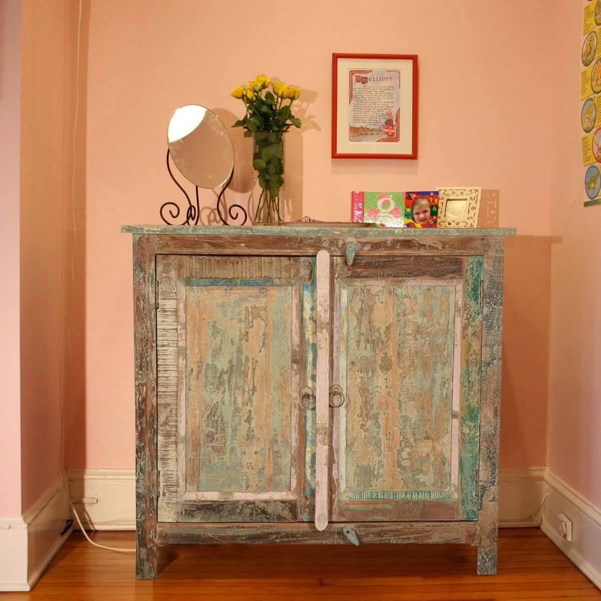 Rustic Foyer Chest : Salerno distressed rustic reclaimed wood console hallway