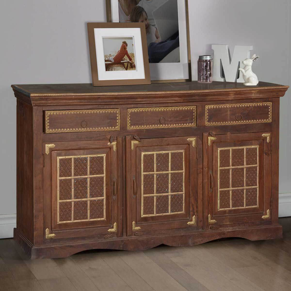Sheridan Simple Mango Wood Sideboard Buffet Cabinet. Full resolution‎  file, nominally Width 1200 Height 1200 pixels, file with #B28C19.