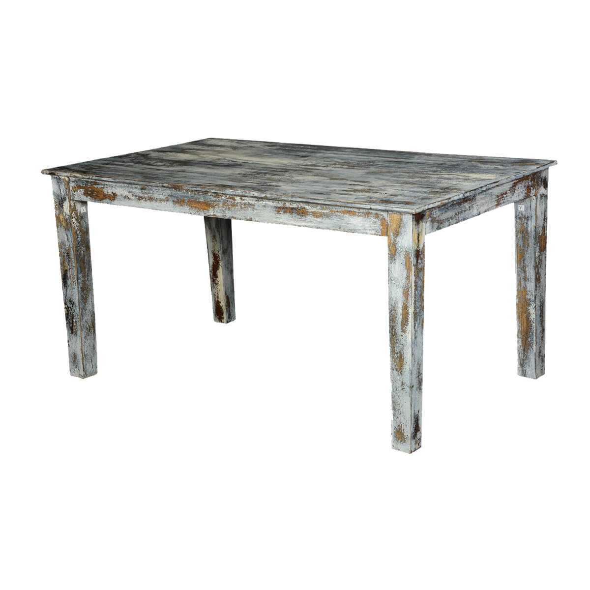 Grey Speckled Mango Wood 60 Distressed Kitchen Dining Table