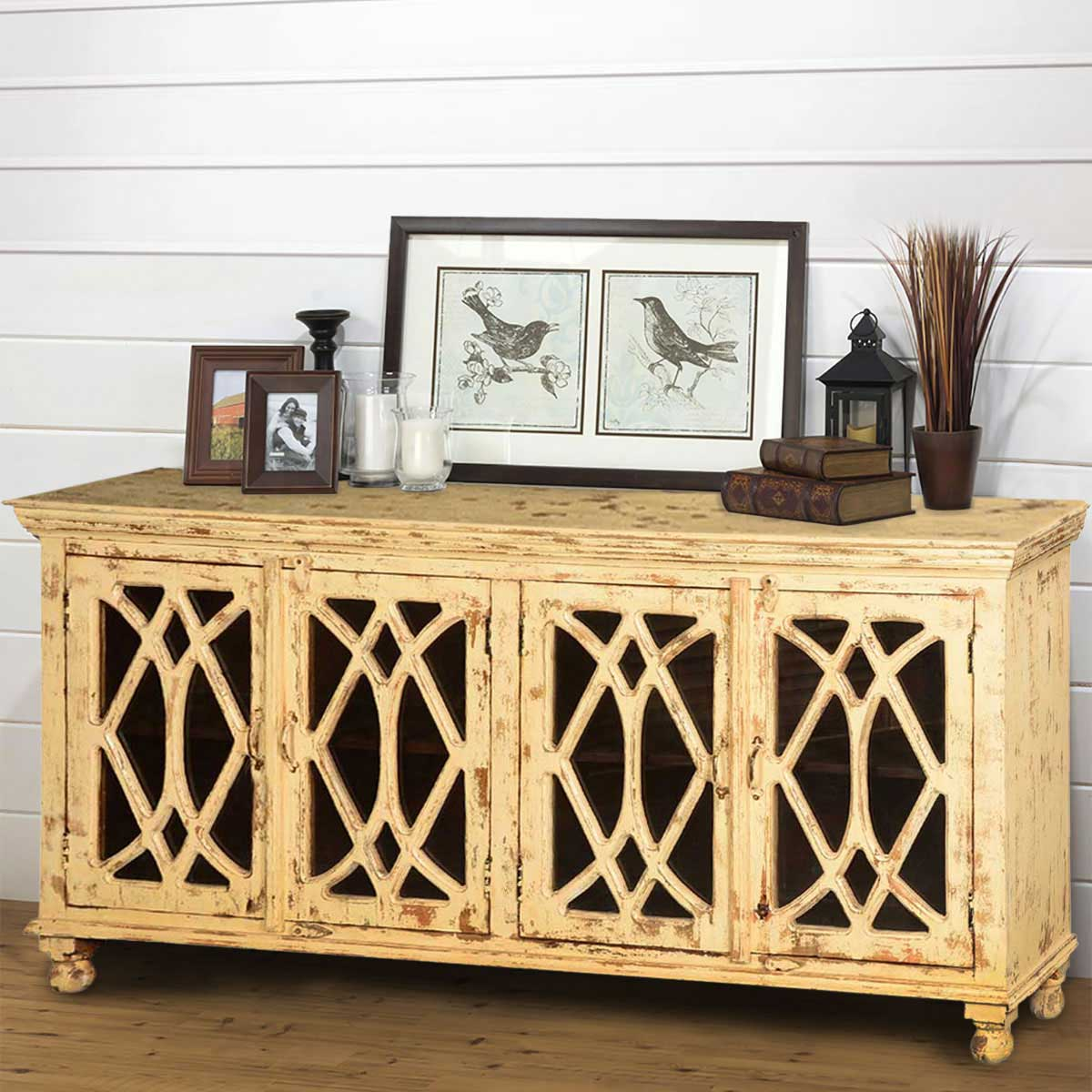 Diamond Grille Mango Wood 71 Standing Sideboard Buffet. Full resolution‎  file, nominally Width 1200 Height 1200 pixels, file with #B68B15.