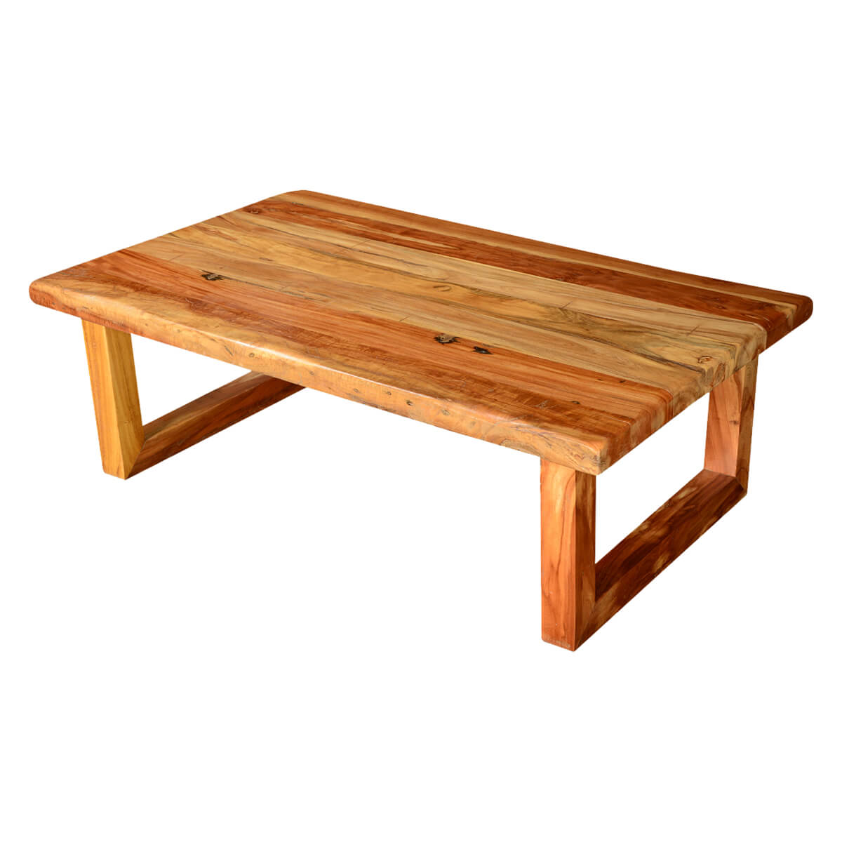 Modern rustic simplicity acacia wood 51 coffee table for Modern wooden coffee tables