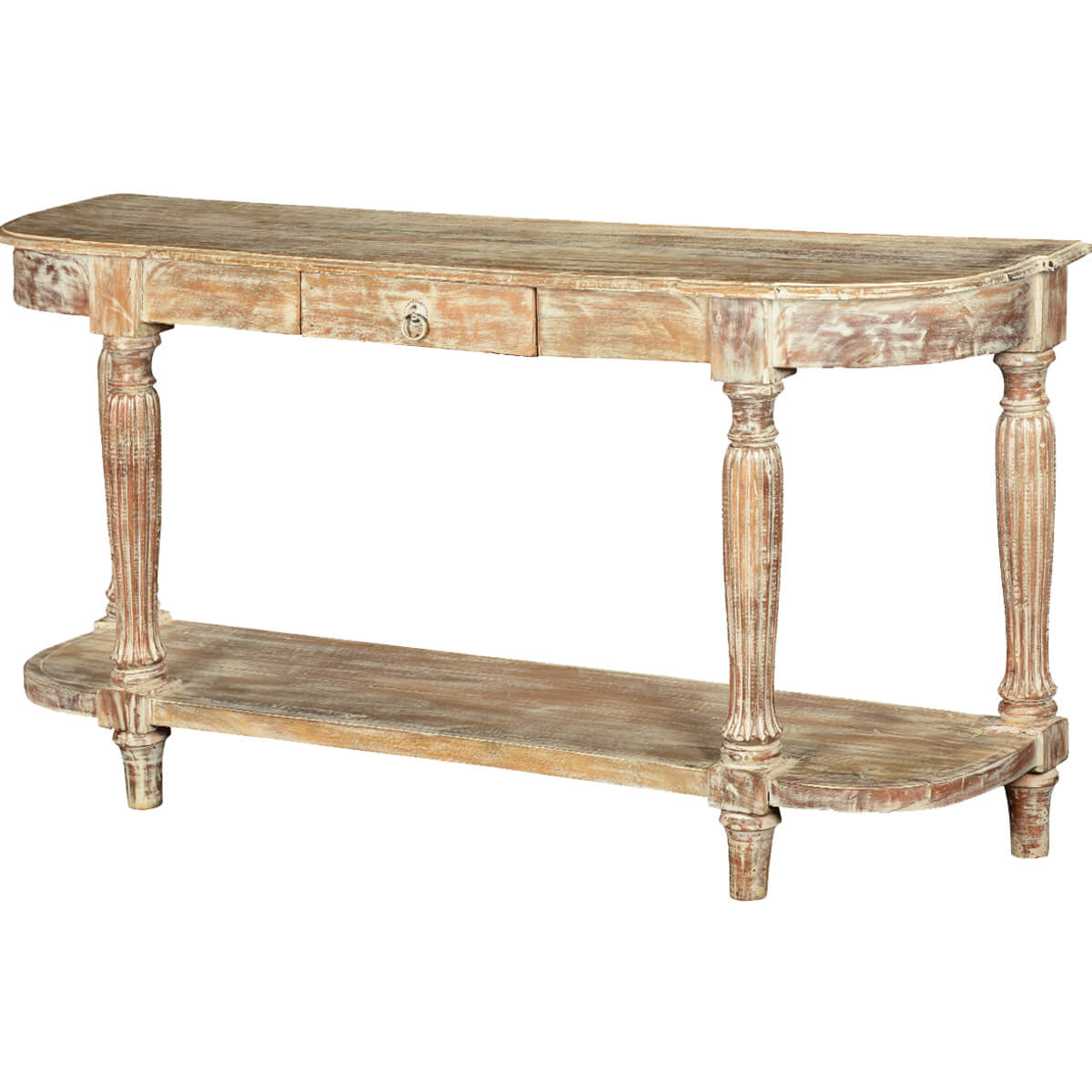 S scroll solid mango wood 65 hall console table for Table th no scroll