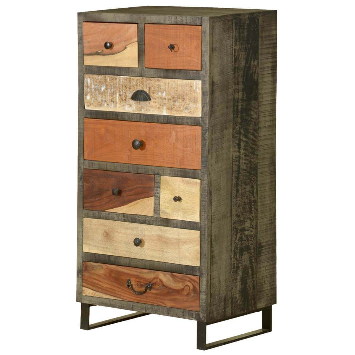 #987133 Wooden Patches Mango Wood & Iron 8 Drawer Dresser Chest with 1200x1200 px of Highly Rated Wood Drawer Chest 12001200 picture/photo @ avoidforclosure.info
