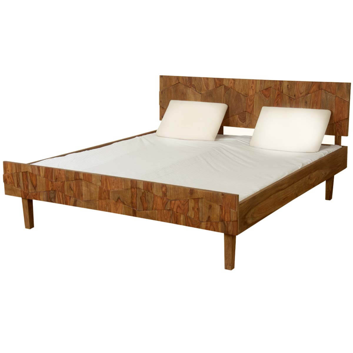Solid wood platform beds Wood platform bed