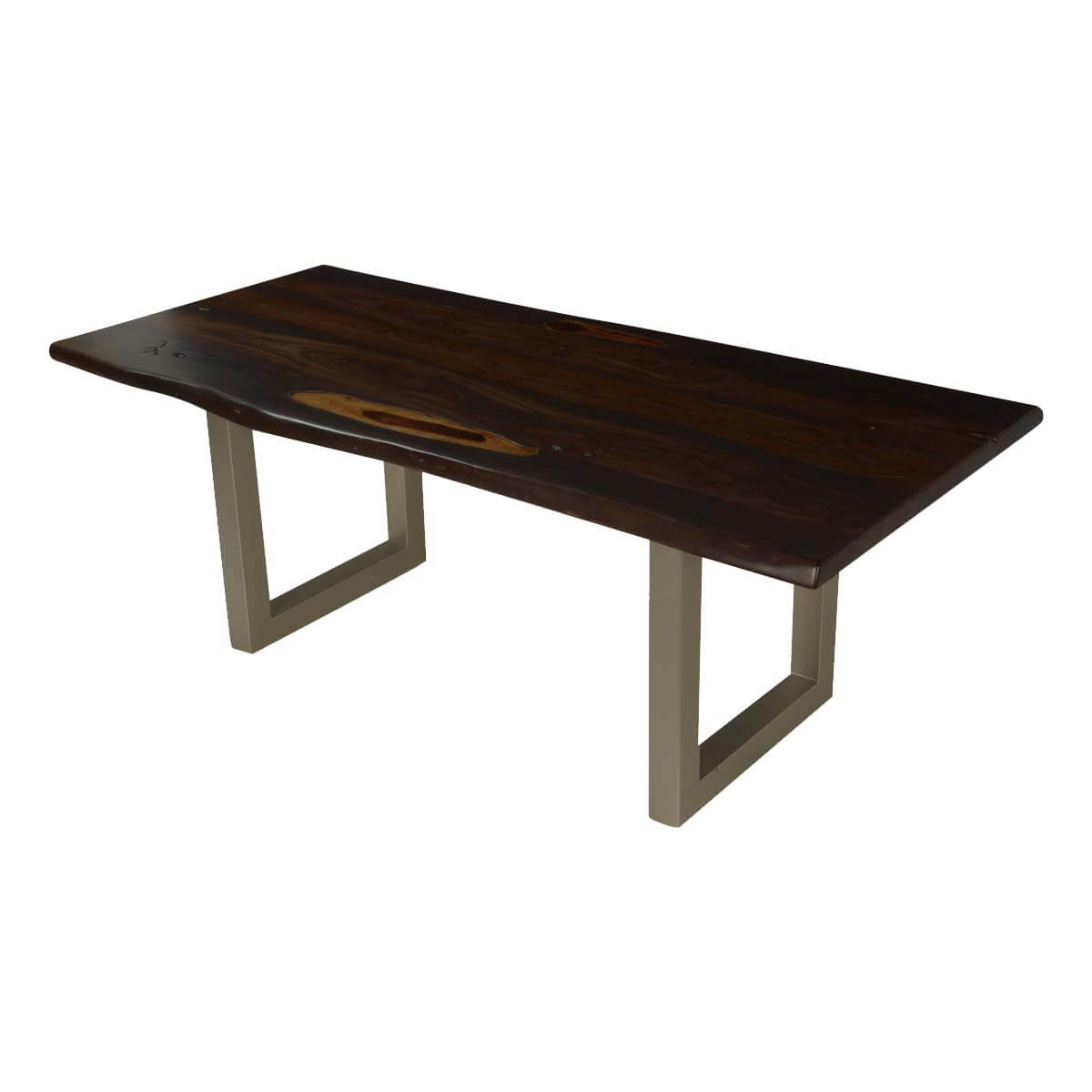Modern Frontier Acacia Wood Live Edge Dining Table