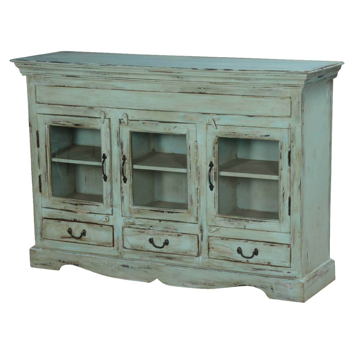 Blue Dutch Boy Mango Wood Display Buffet Cabinet. Full resolution‎  file, nominally Width 1200 Height 1200 pixels, file with #B27F19.