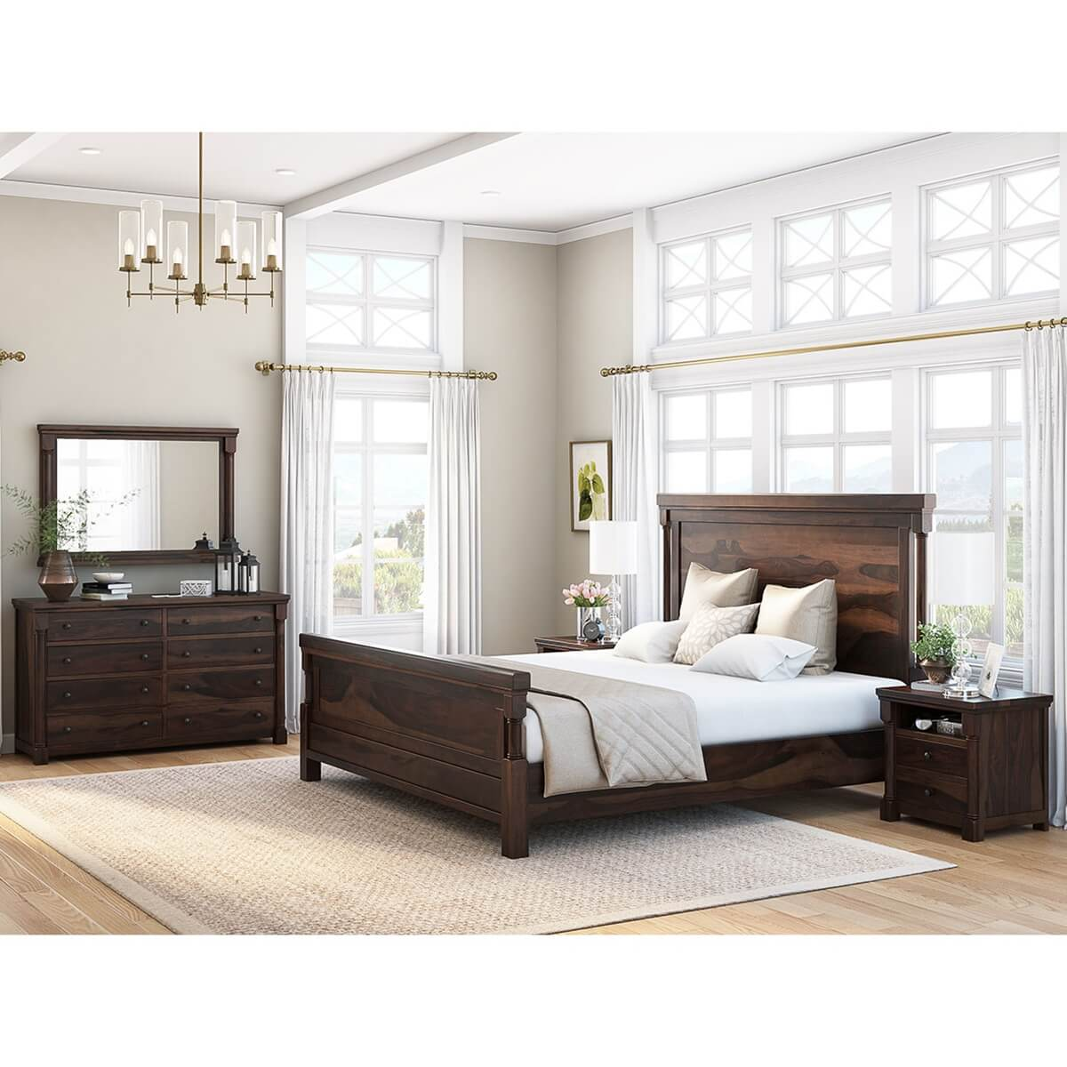 Transitional Bedroom Furniture: Pioneer Transitional 7 Piece Bedroom Collection