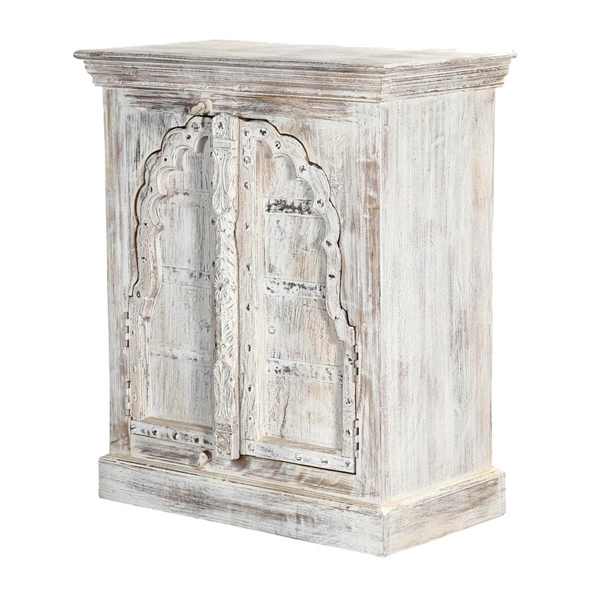 cheshire white arched door solid wood storage cabinet. Black Bedroom Furniture Sets. Home Design Ideas