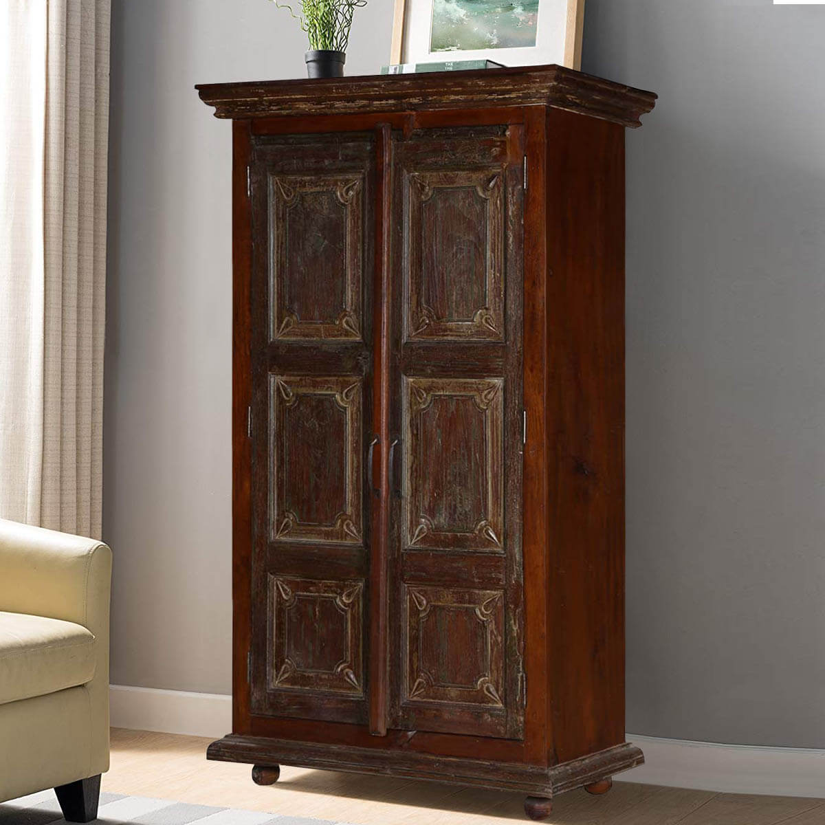 Dark Wood Armoire 28 Images Tall Armoires Jewelry