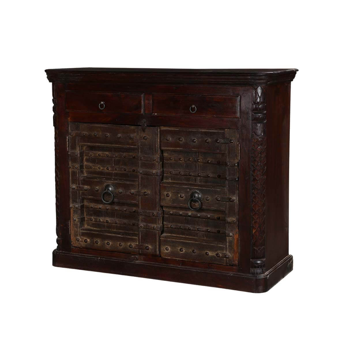"""Gothic Gates Mango & Reclaimed Wood 51"""" Sideboard Cabinet. Full resolution  photograph, nominally Width 1200 Height 1200 pixels, photograph with #B28C19."""