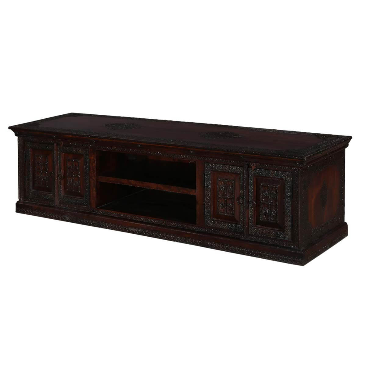 Willamette 71 Dark Brown 2 Door Rustic Media Console