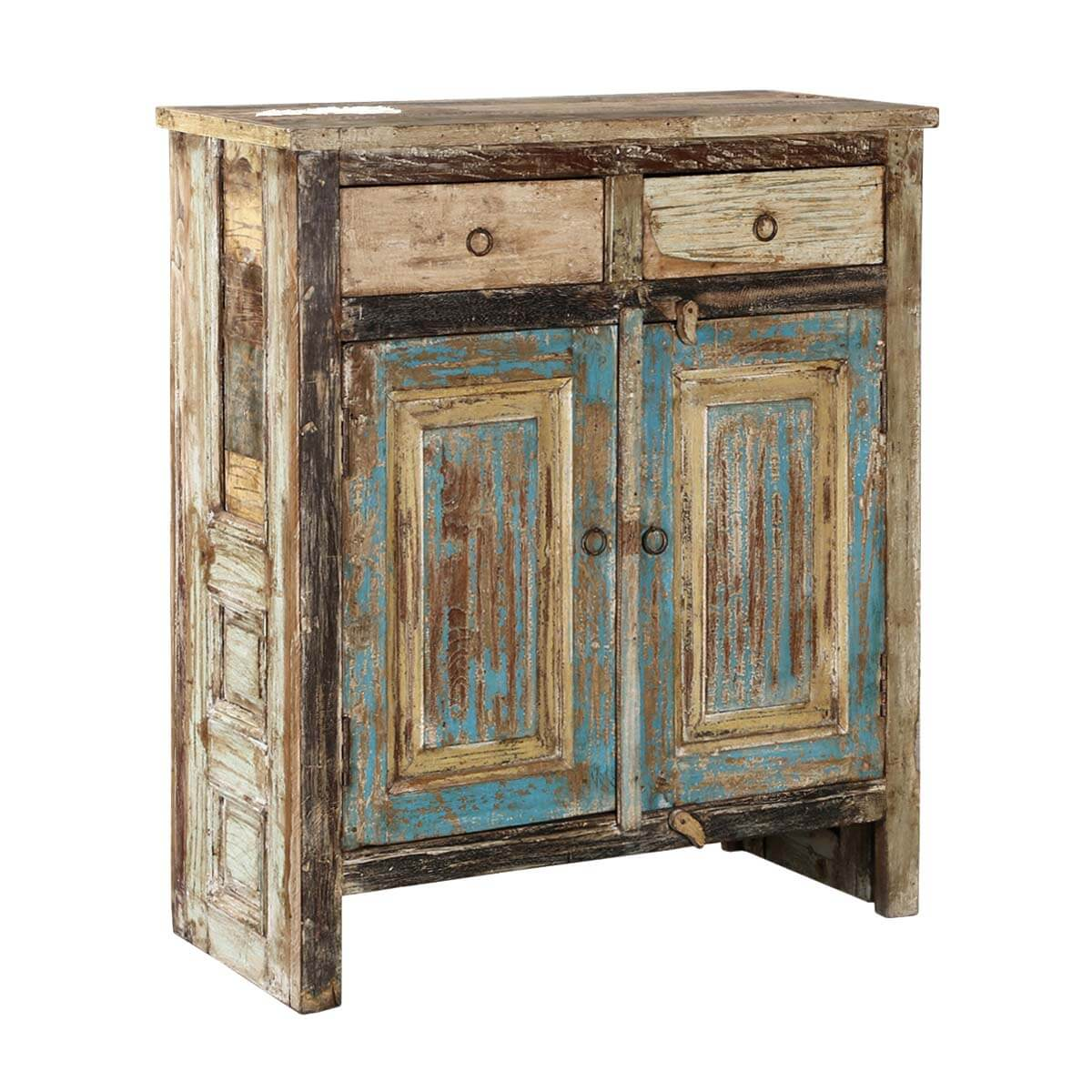 Rustic Farmhouse Reclaimed Wood Freestanding 2 Drawer