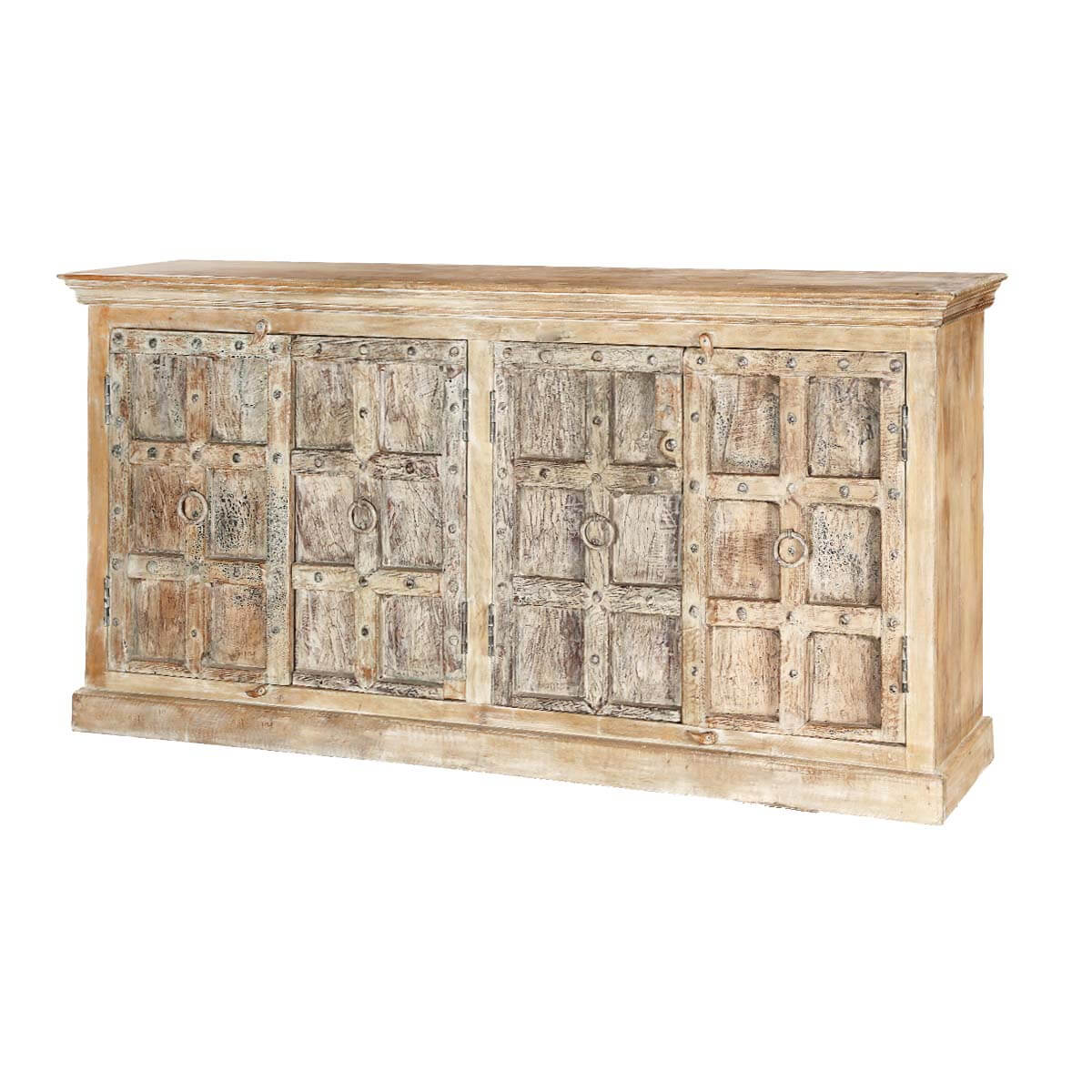 Palazzo 76 Rustic Light Brown 4 Door Accent Buffet Sideboard. Full resolution  picture, nominally Width 1200 Height 1200 pixels, picture with #9E782D.