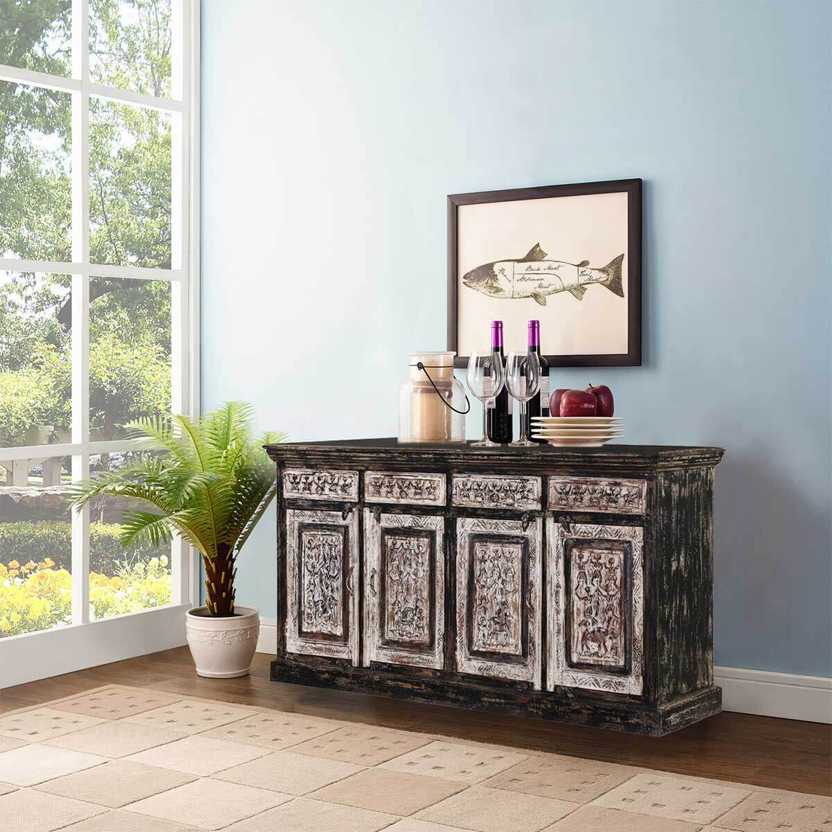 Rustic dining room buffet