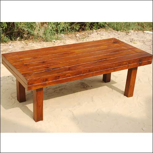 2Y. Solid Wood Mission Cocktail Occasional Coffee Table